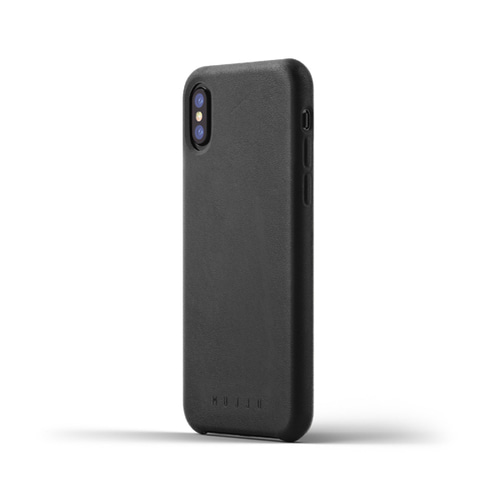[무쪼] Full Leather Case for iPhone X - Black