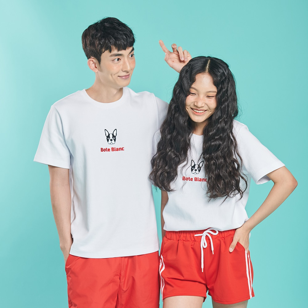 [보테블랑] DOUBLE LOGO T-SHIRT (WHITE)