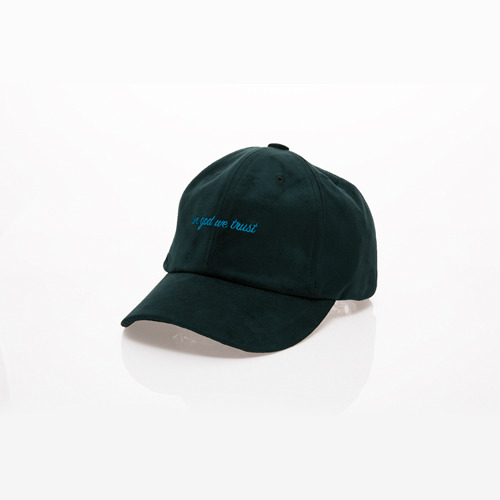 TRUST suede ball cap forest green