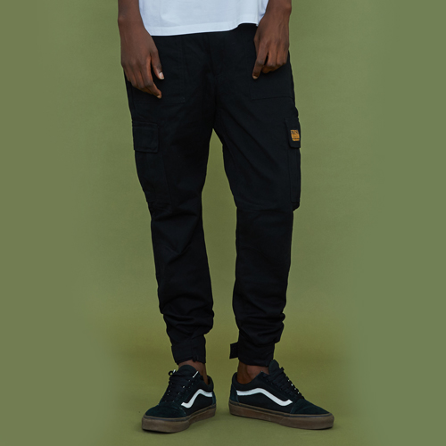 [엑스톤즈] [XTONZ] XP12 Velcro Cargo Pants-Black (카고팬츠)