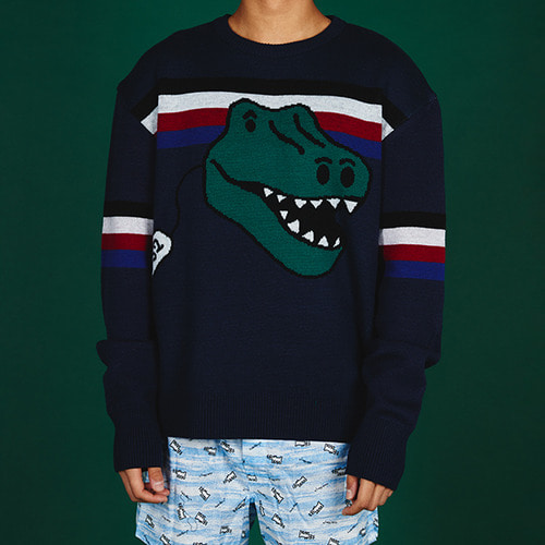[MINU][WOOL 100%]Dino Toy sweater[Navy]
