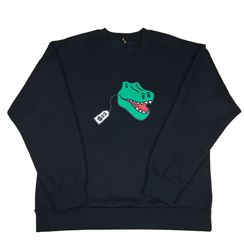 [MINU][기모]Dino Toy sweatshirts[Black]