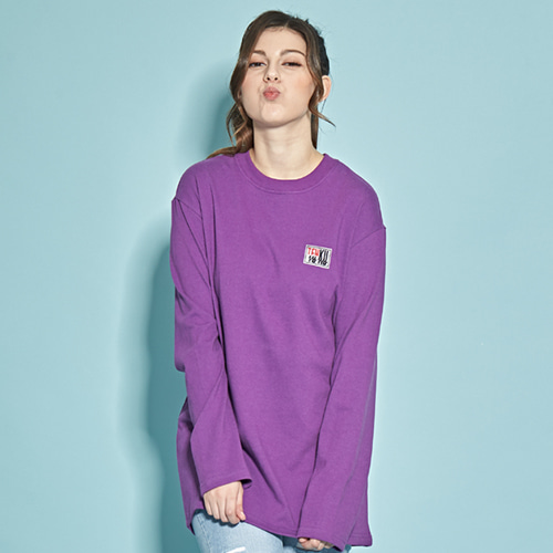 [TENKU] 18SS STREET PATCH LOGO T-SHIRT (PURPLE)