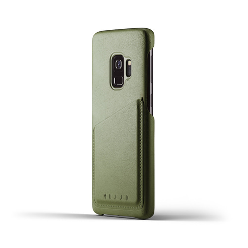 [무쪼] Full Leather Wallet Case for Galaxy S9 - Olive