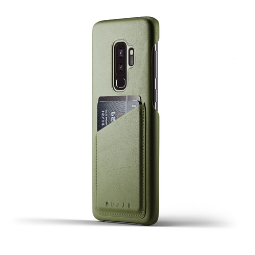 [무쪼] Full Leather Wallet Case for Galaxy S9 Plus - Olive