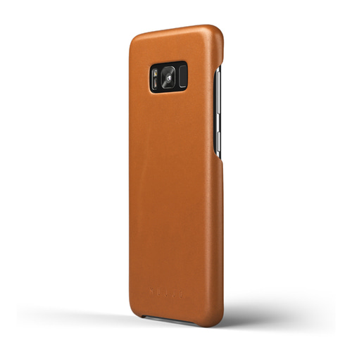 [무쪼] Leather Case for Galaxy S8 Plus Saddle Tan