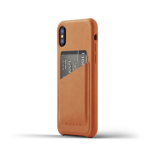[무쪼] Full Leather Wallet Case for iPhone X - Tan