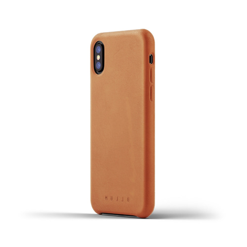 [무쪼] Full Leather Case for iPhone X - Tan