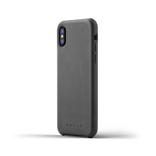 [무쪼] Full Leather Case for iPhone X - Gray