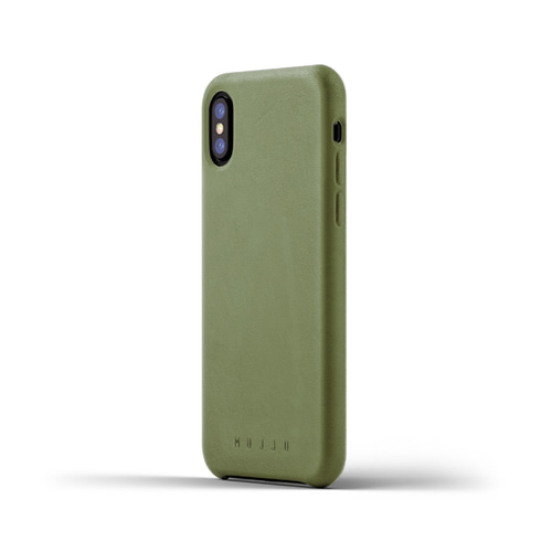 [무쪼] Full Leather Case for iPhone X - Olive
