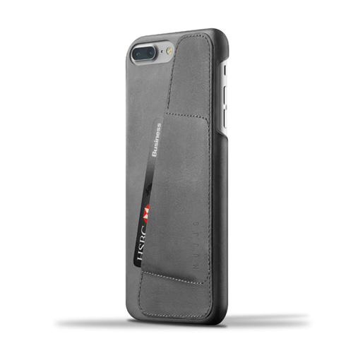 [무쪼] Leather Wallet Case for iPhone 8 Plus / 7 Plus - Gray