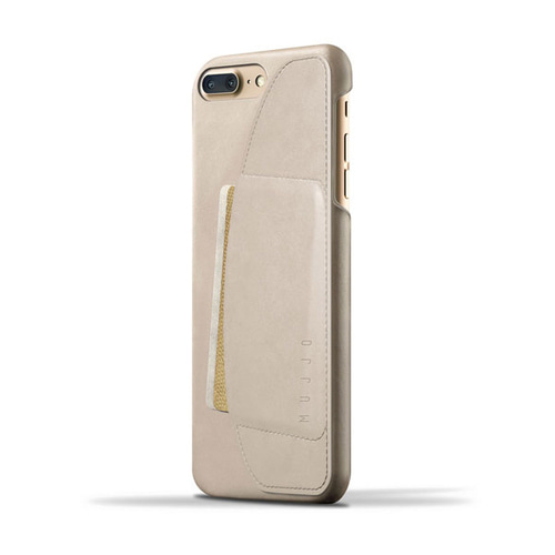 [무쪼] Leather Wallet Case for iPhone 8 Plus / 7 Plus - Champagne