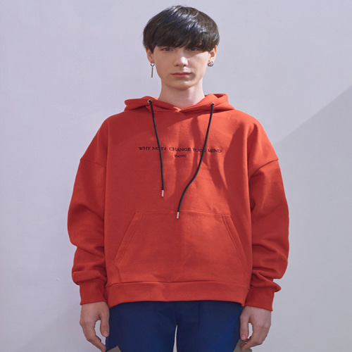 [와이낫씨] Change Your Mind Hoody T - Rd