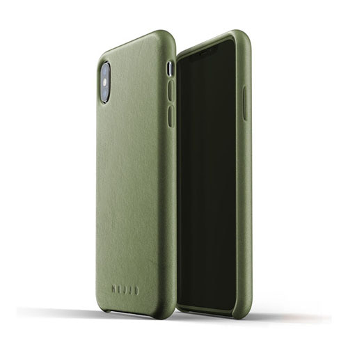 [무쪼] Full Leather Case for iPhone Xs Max - Olive