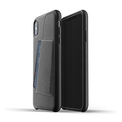 [무쪼] Full Leather Wallet Case for iPhone Xs Max - Black