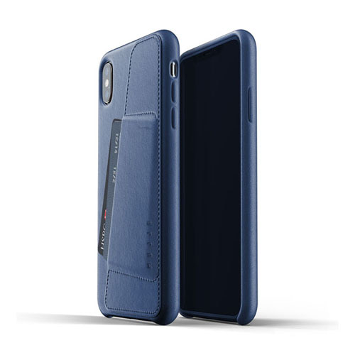 [무쪼] Full Leather Wallet Case for iPhone Xs Max - Blue