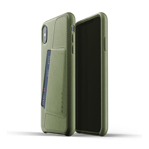 [무쪼] Full Leather Wallet Case for iPhone Xs Max - Olive