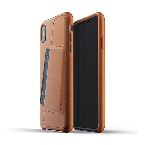 [무쪼] Full Leather Wallet Case for iPhone Xs Max - Tan
