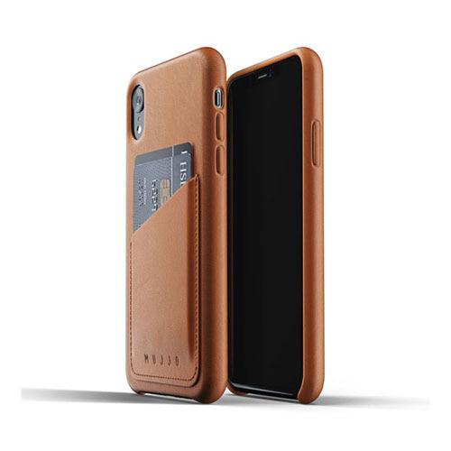 [무쪼] Full Leather Wallet Case for iPhone Xr - Tan