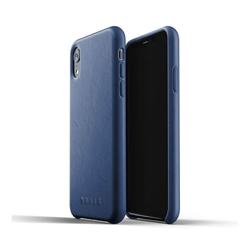 [무쪼] Full Leather Case for iPhone Xr - Blue