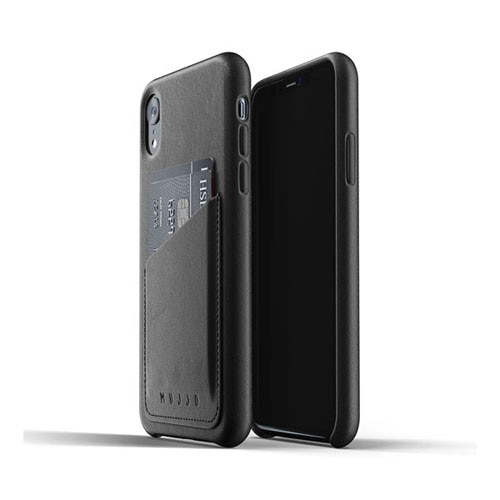 [무쪼] Full Leather Wallet Case for iPhone Xr - Black