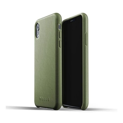 [무쪼] Full Leather Case for iPhone Xr - Olive