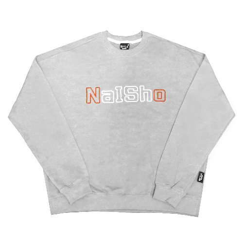 NAISHO  BIG-LOGO  embroider  Gray Mantoman
