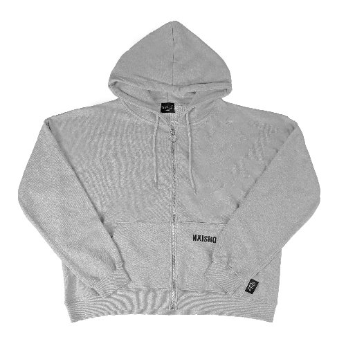 [나이쇼] Simple Name Logo Hood-zipup (Grey)