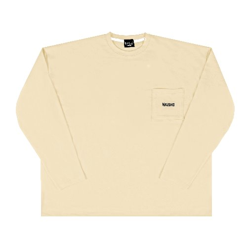 [나이쇼] Simple pocket logo T-shirt (Cream)