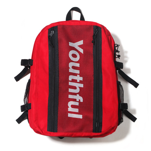 [벗딥] SIDE LOGO BACKPACK-RED