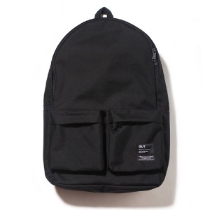19AW 2PK NYLON BACKPACK-BLACK
