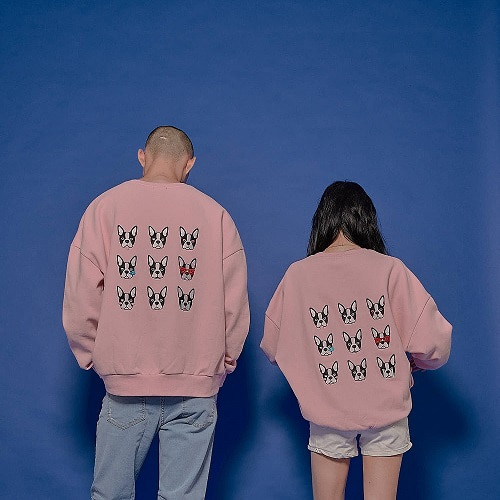 [보테블랑]BOTE NINE SWEATSHIRT / PINK (기모)