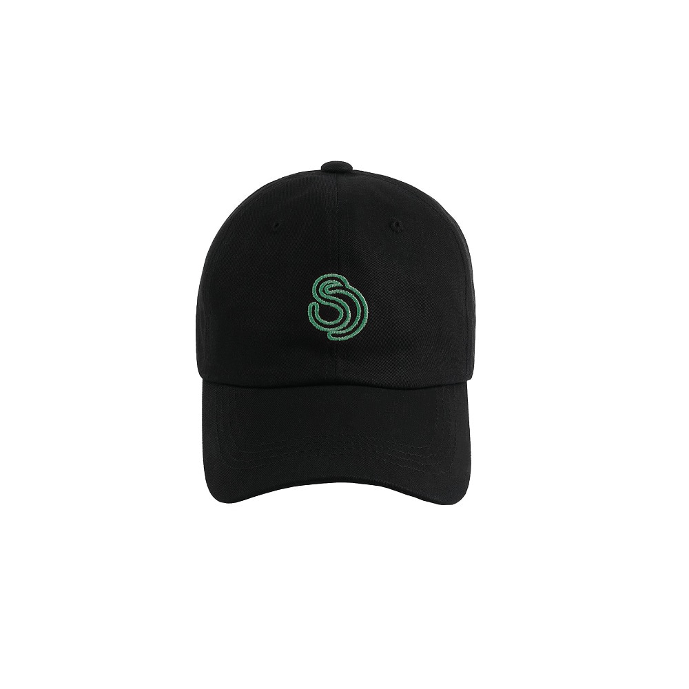 [SIXOUNCE] Unisex Logo Ball Cap - Blackgreen
