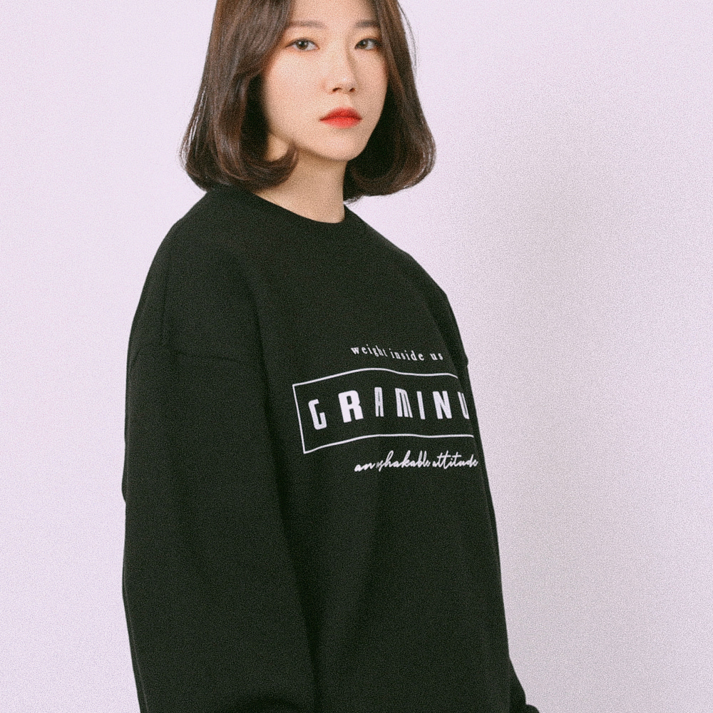 [그래미누스] GRM #027 RECTANGLE LOGO MTM / BLACK