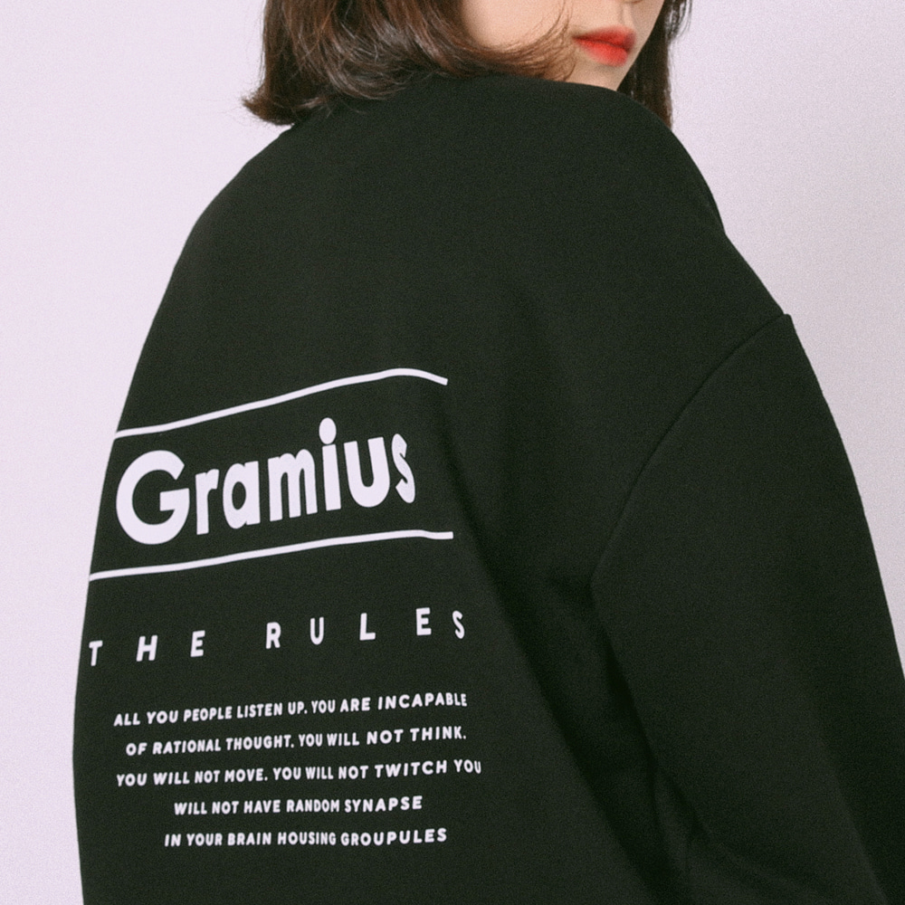 [그래미누스] GRM #013 ACROSS LOGO MTM / BLACK
