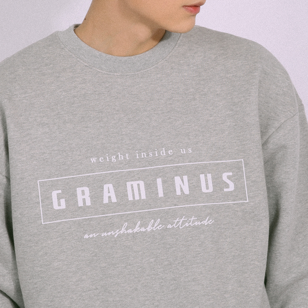 [그래미누스] GRM #027 RECTANGLE LOGO MTM / GRAY